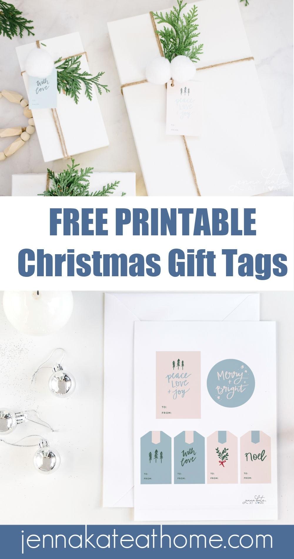 free christmas printable gift tags pinterest
