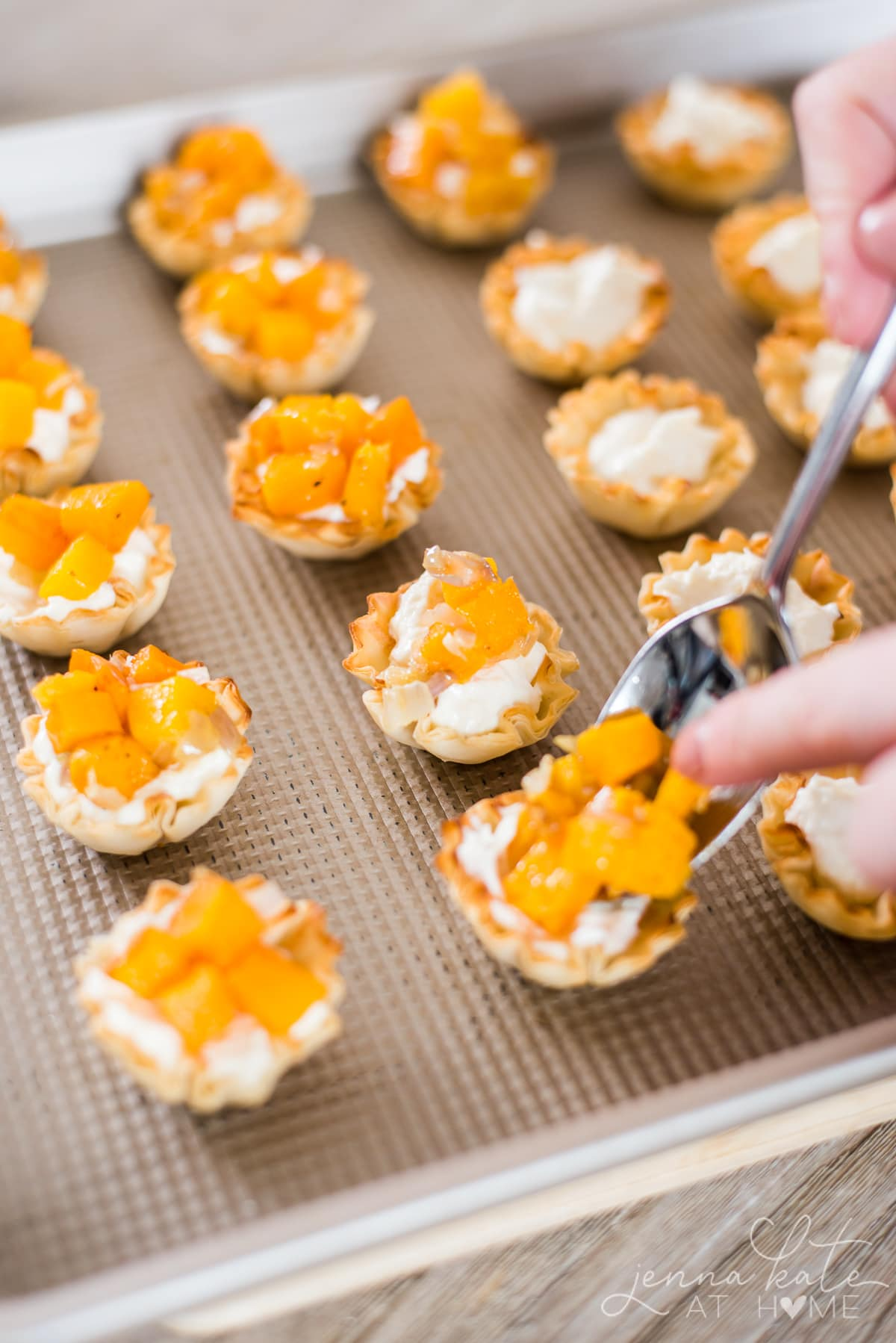 Easy holiday appetizer made from butternut squash