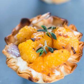 cheesy butternut squash bites