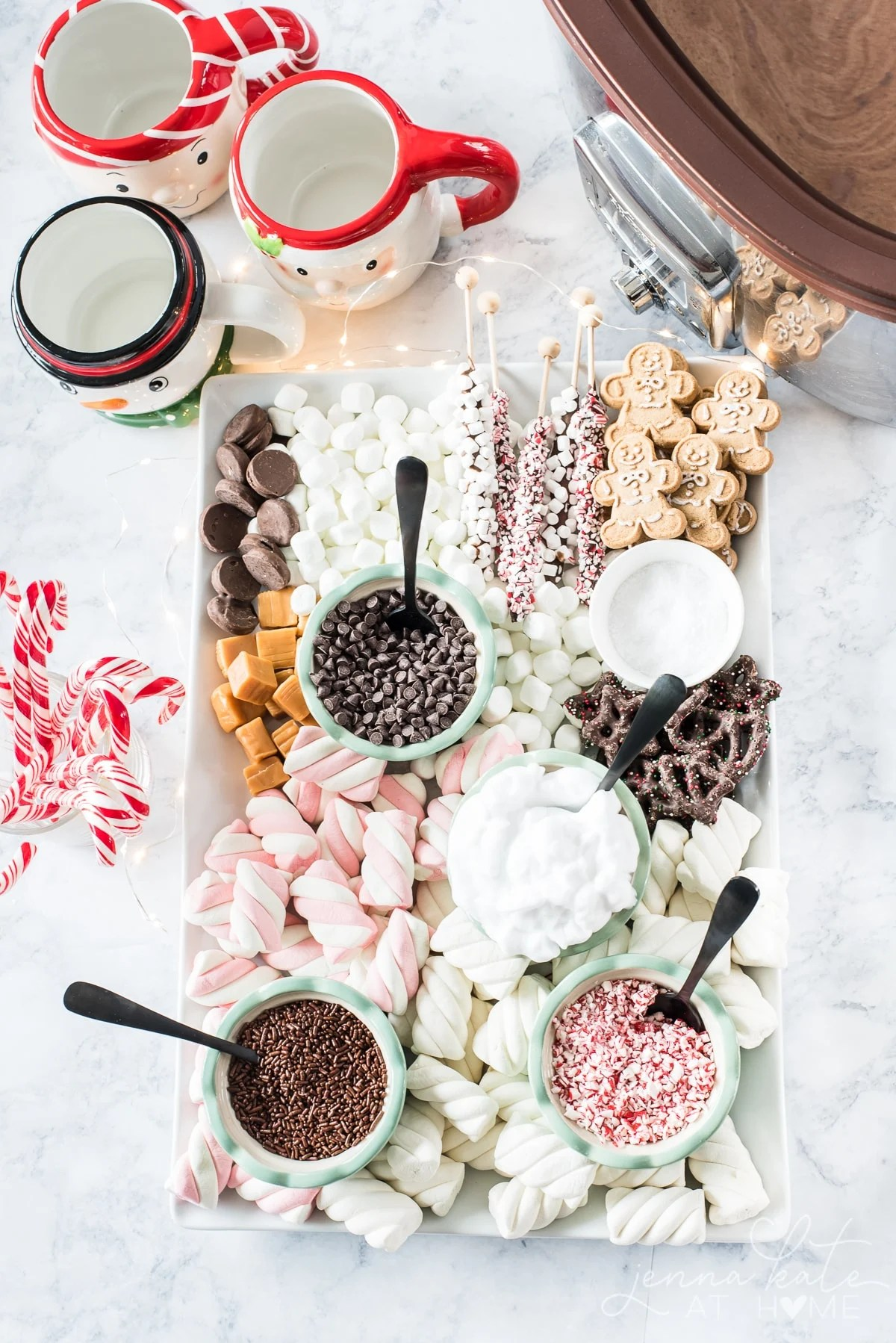 this easy Dessert Charcuterie Board is a fun display of sweet treats that's perfect for a build your own hot chocolate bar