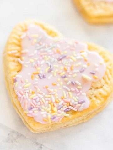 homemade pop tarts recipe for valentine's breakfast