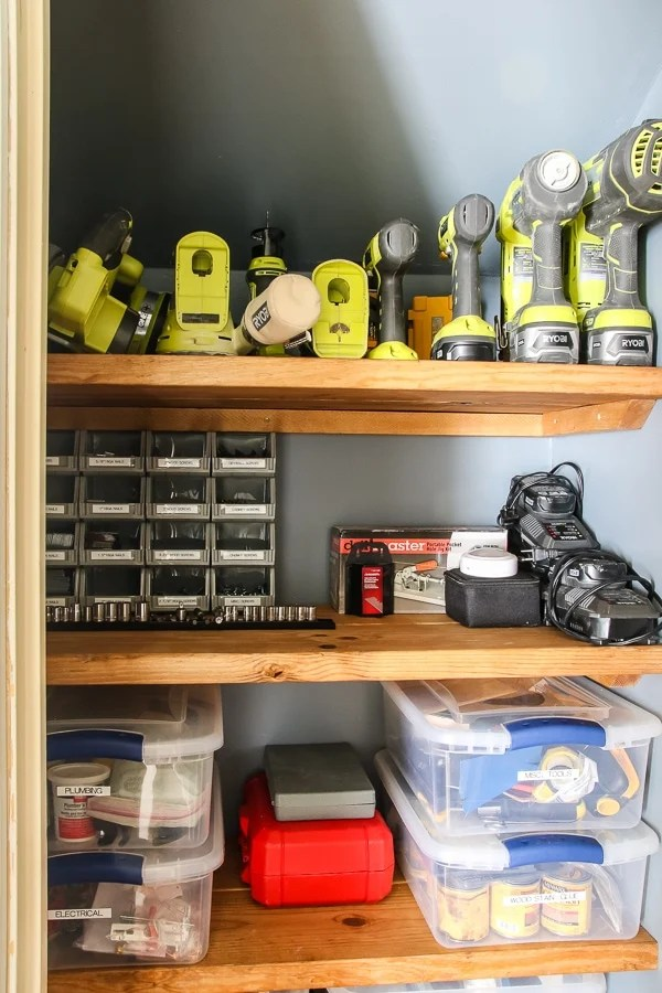 Closet used to store tools and other equipment