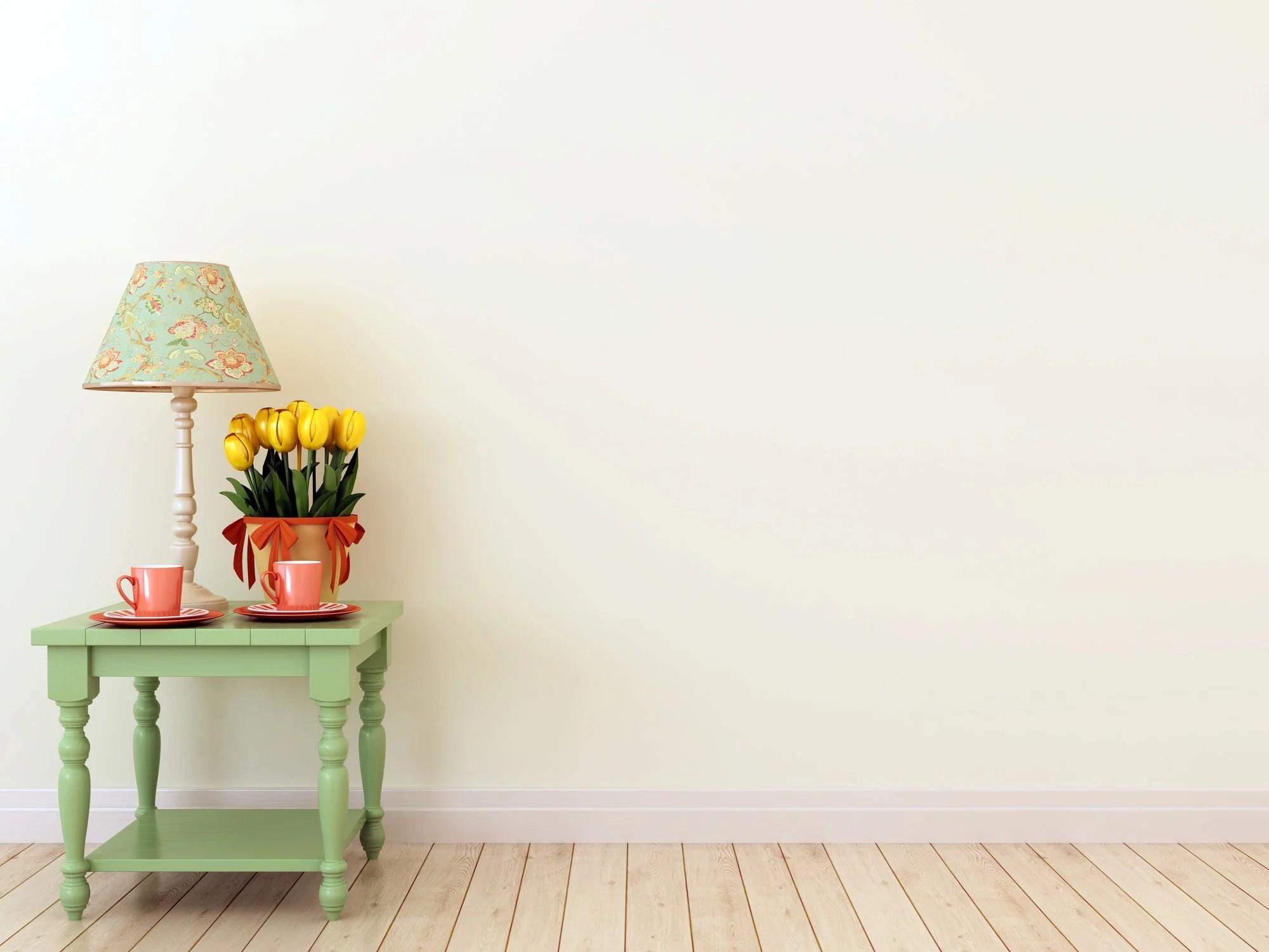 Cream colored walls