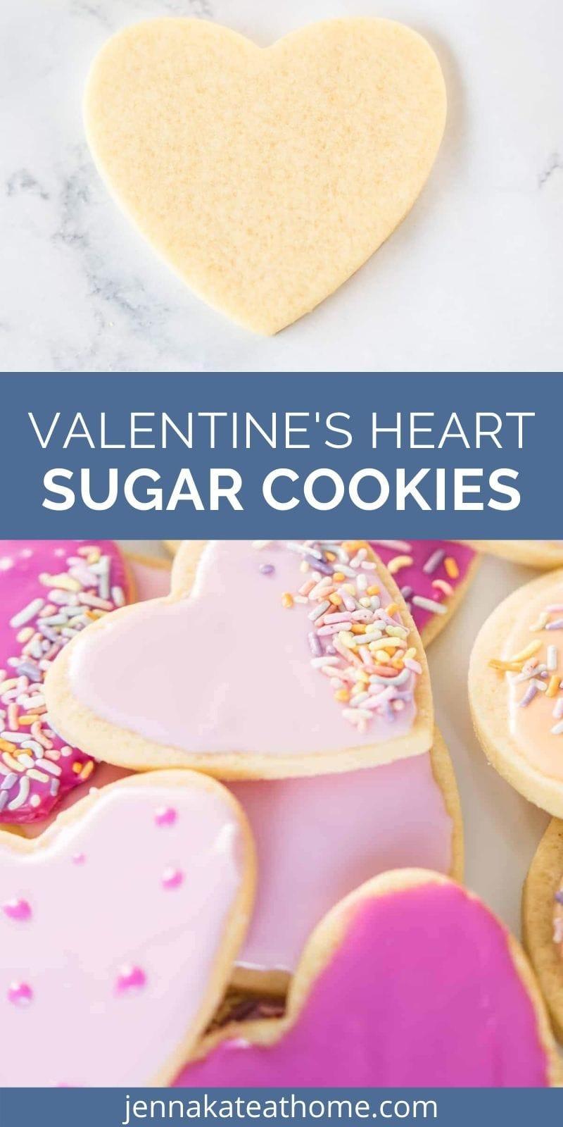 Valentine's Heart Sugar Cookies