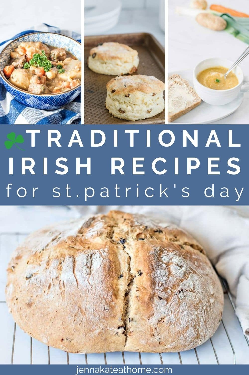 Traditional Irish Recipes for St.Patrick's Day pin