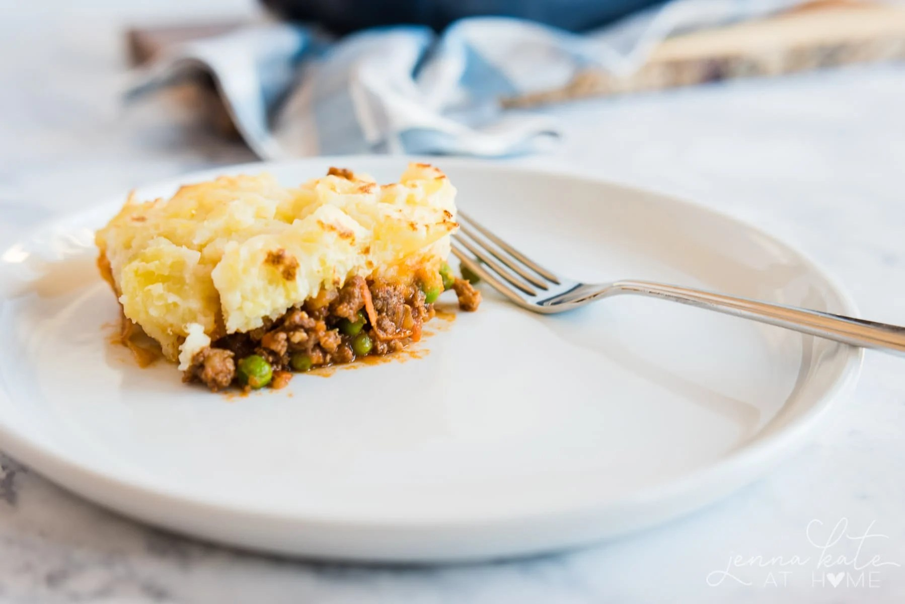 Piece of Shepherd's pie for dinner