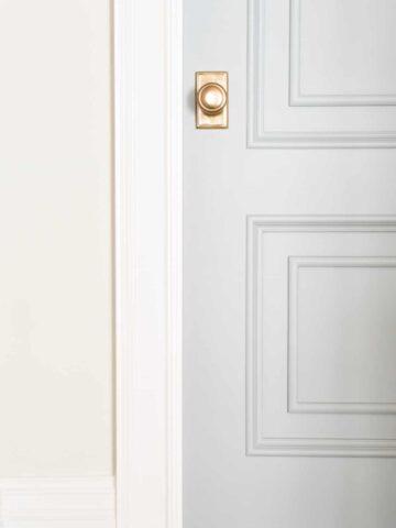 light gray door