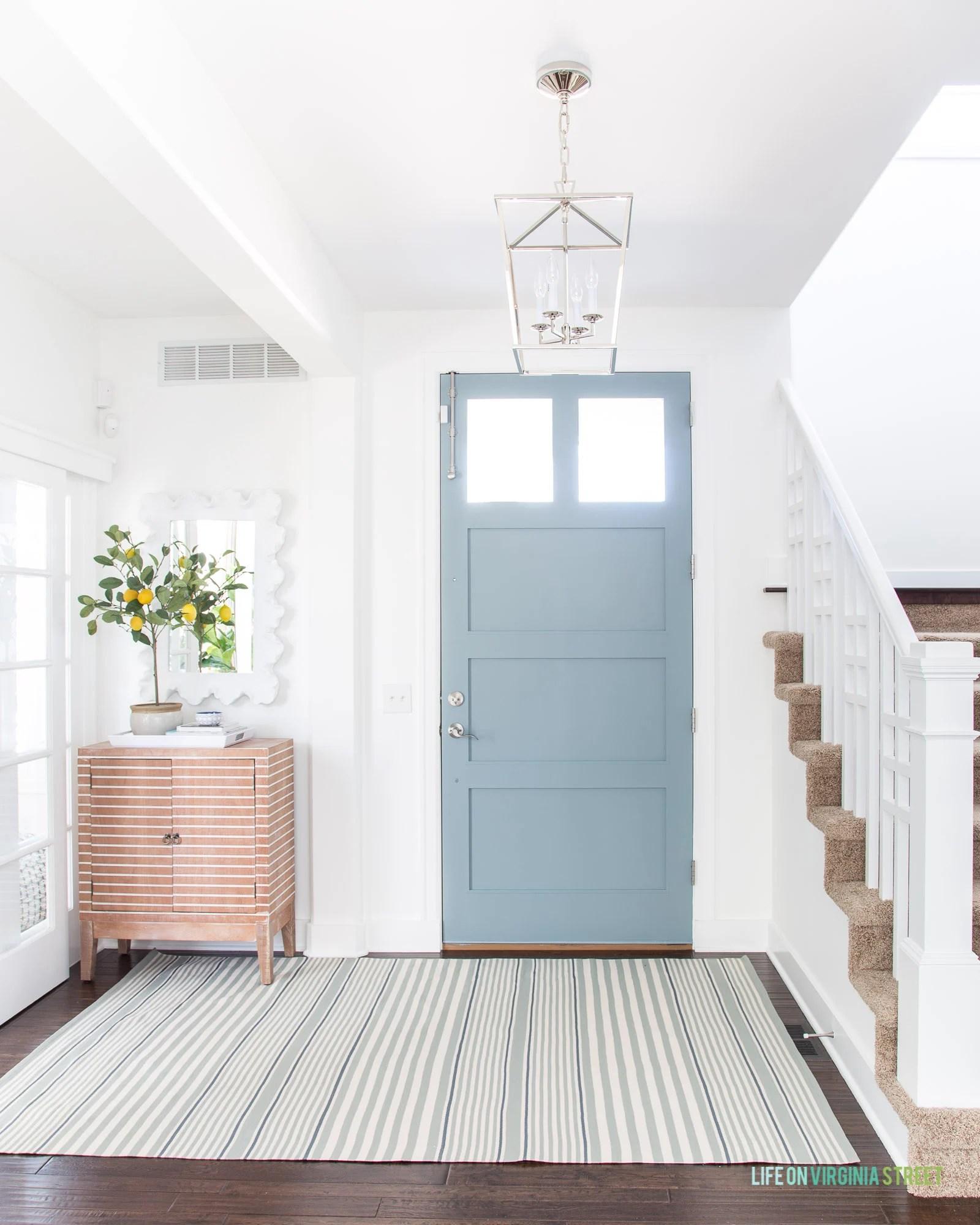Blue gray front door