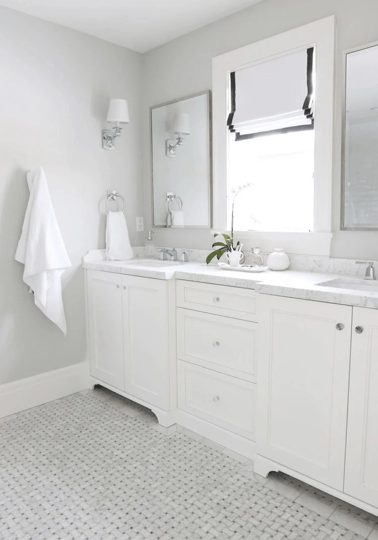 Benjamin Moore Moonshine - light gray paint color for the home