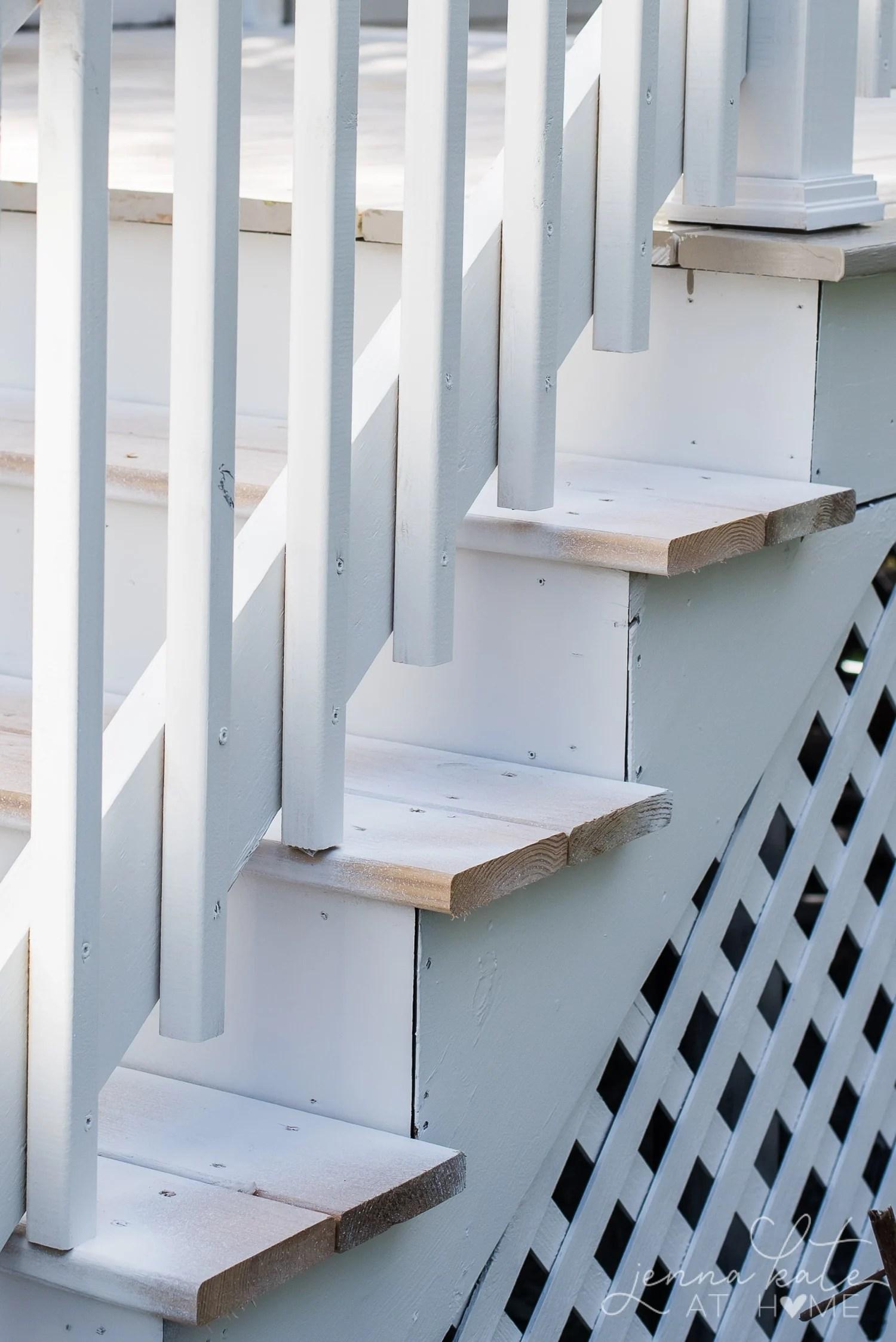Overspray on deck spindles
