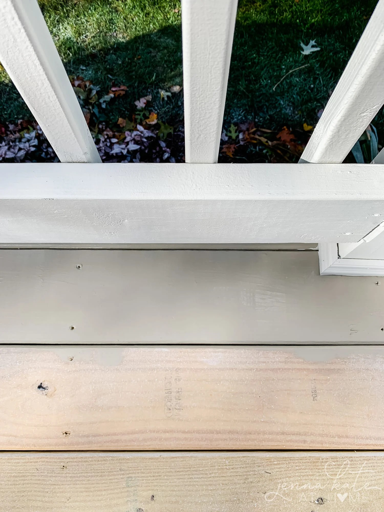 Sherwin Williams Intellectual Gray solid deck stain