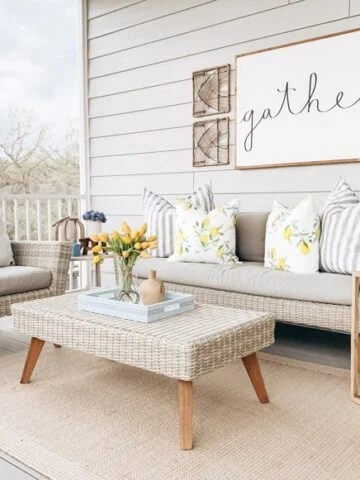 screened in porch decor