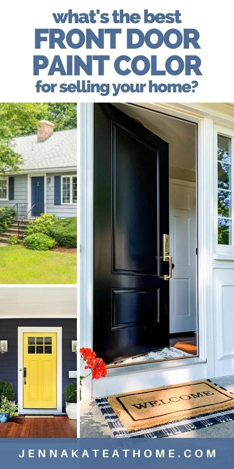the best front door colors for resale value