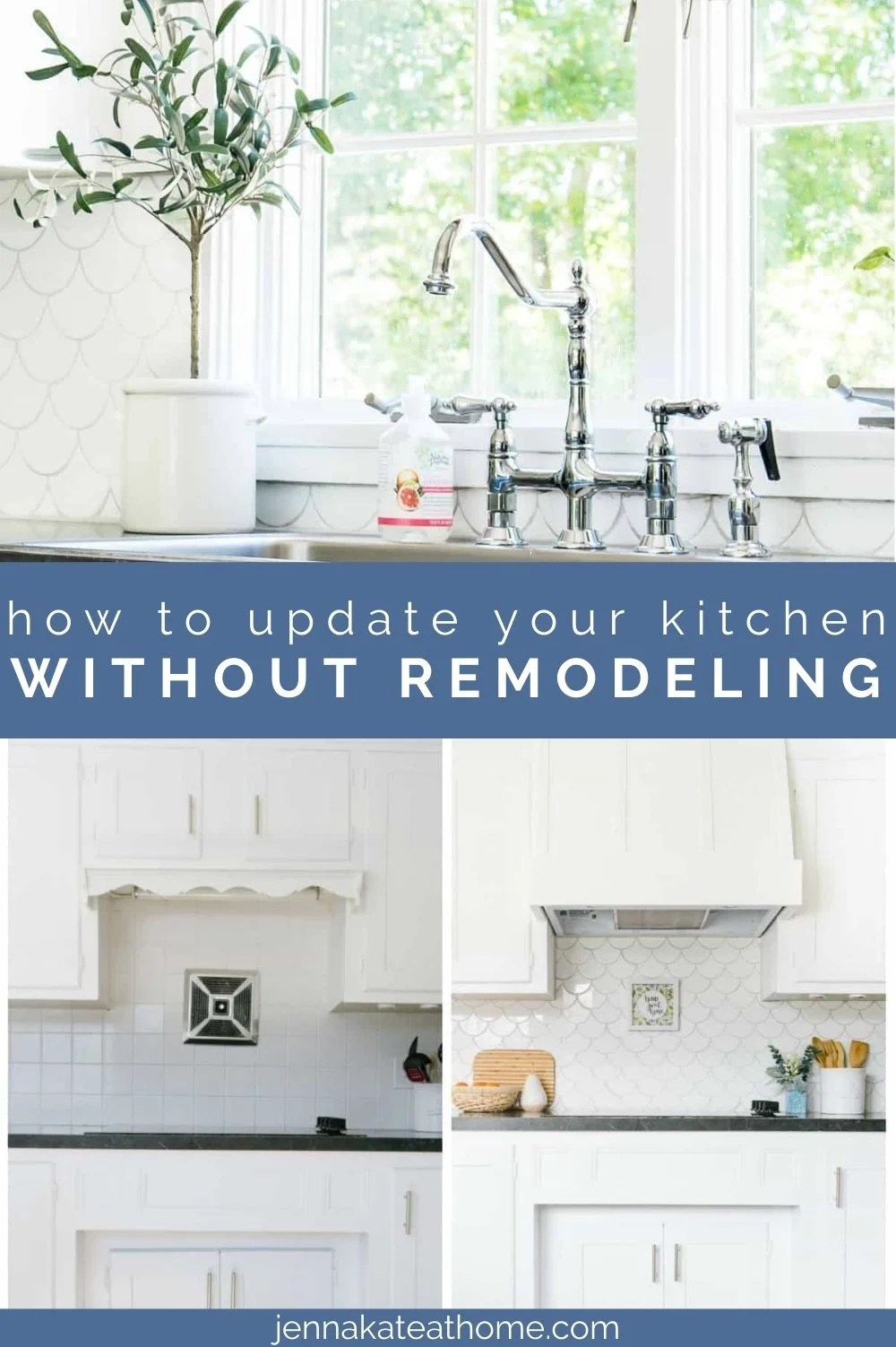 how to update a kitchen without remodeling pin