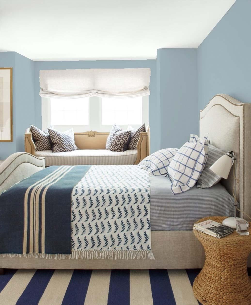 Bedroom paint color idea benjamin moore nantucket fog