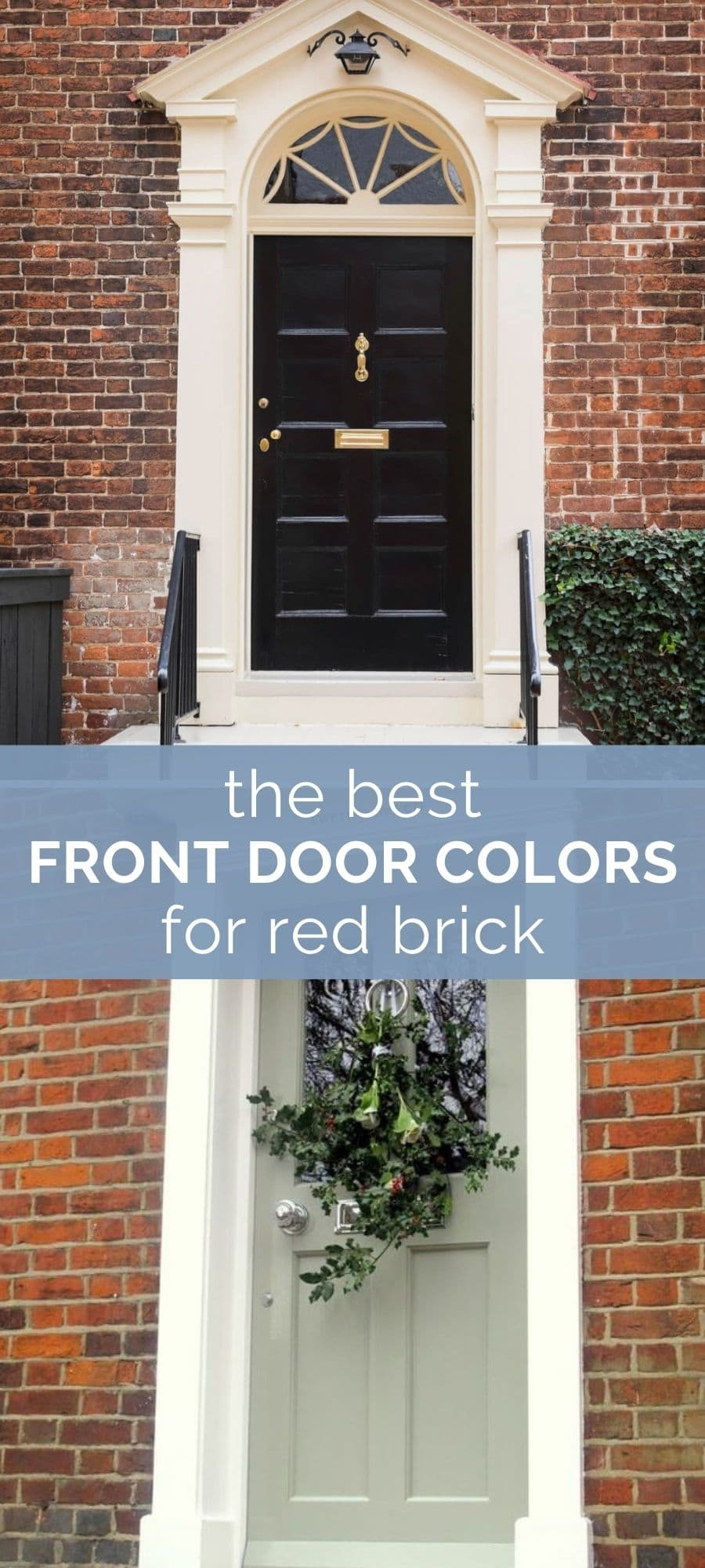 best front door colors for red brick houses