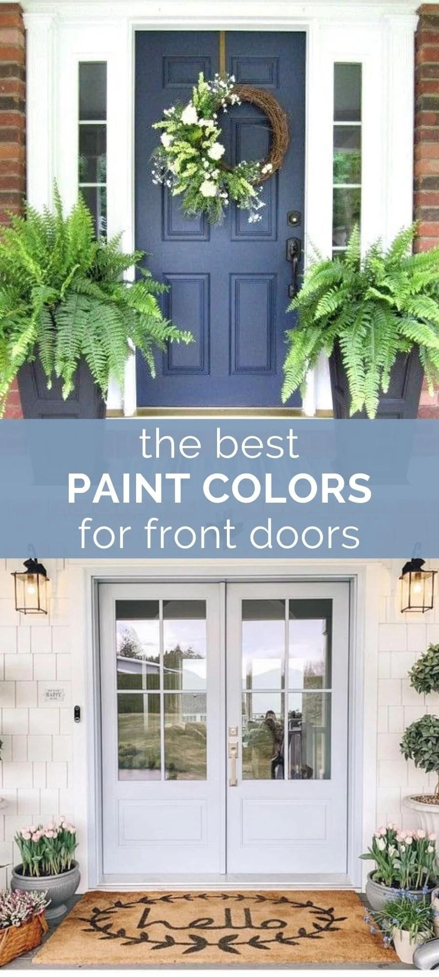 best paint colors for front doors