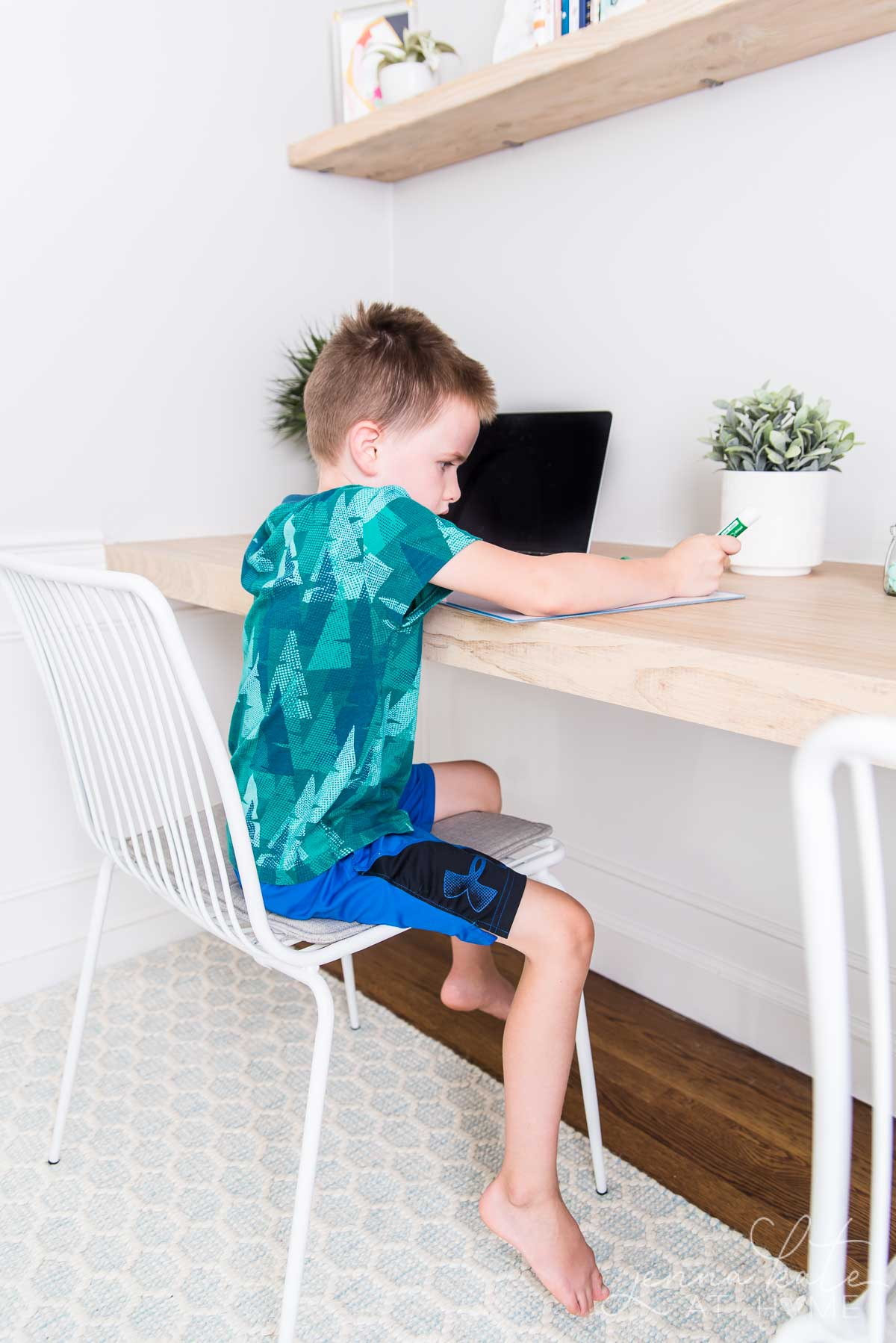 DIY homeschool or remote learning desk