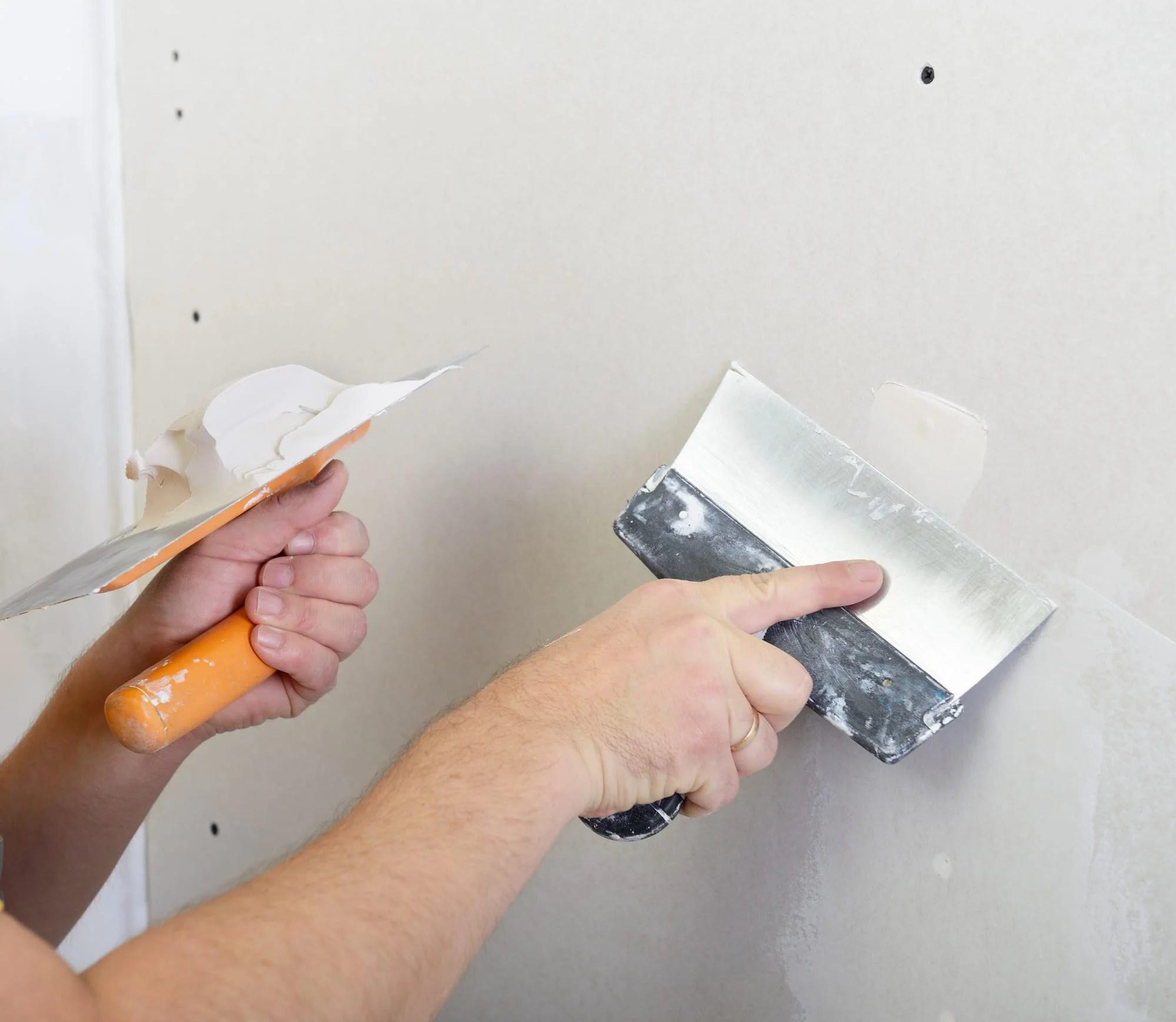 repair holes in the drywall