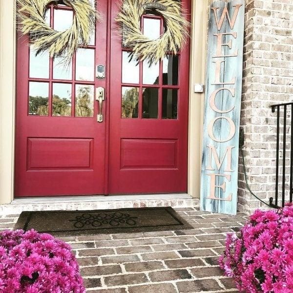 Sherwin Williams Antique Red front door