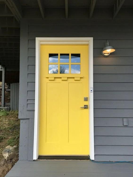 Sherwin Williams Decisive Yellow front door