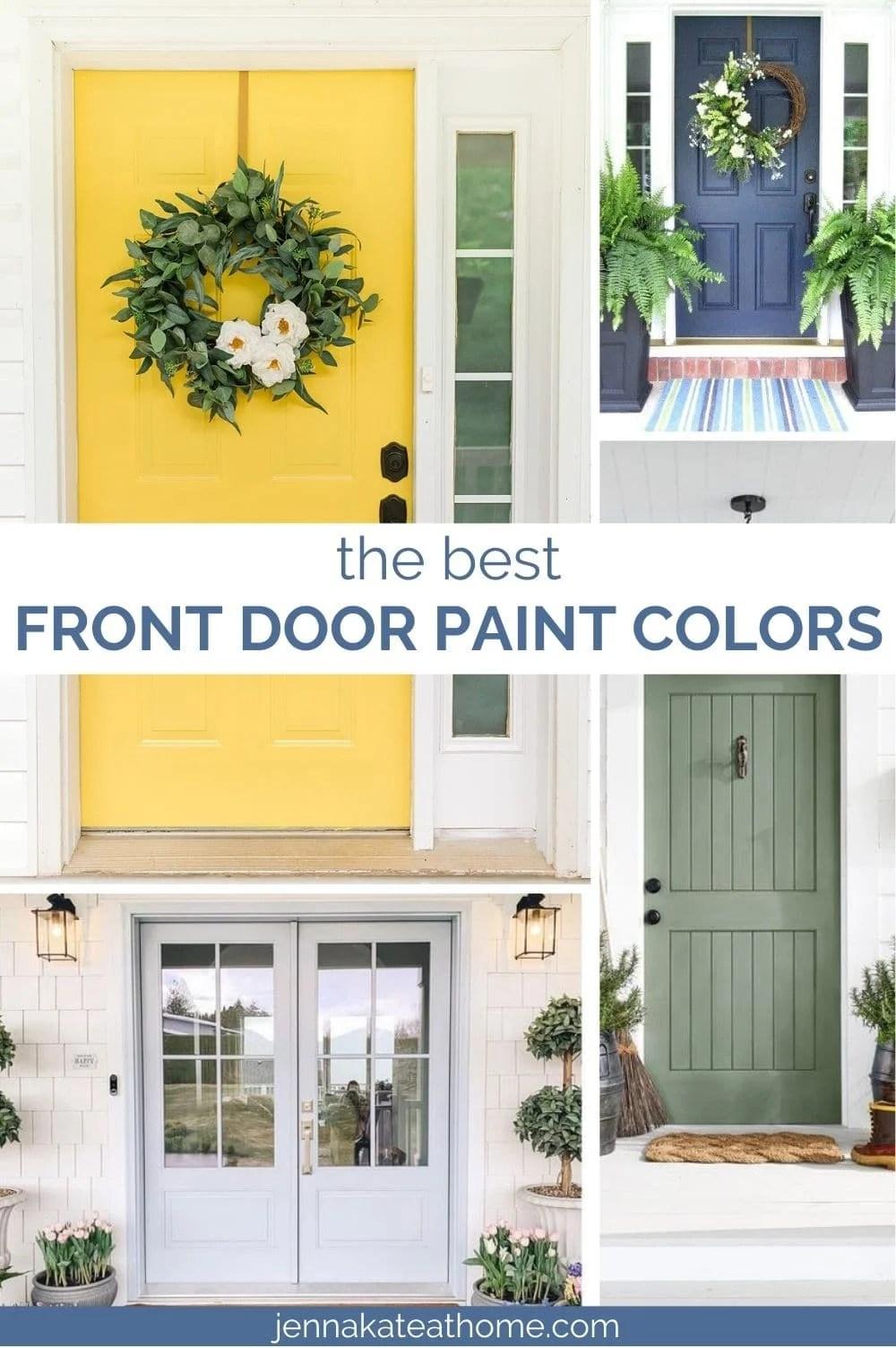 the best front door paint colors