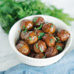 honey bbq slowcooker meatballs