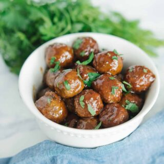 honey bbq slowcooker meatballs