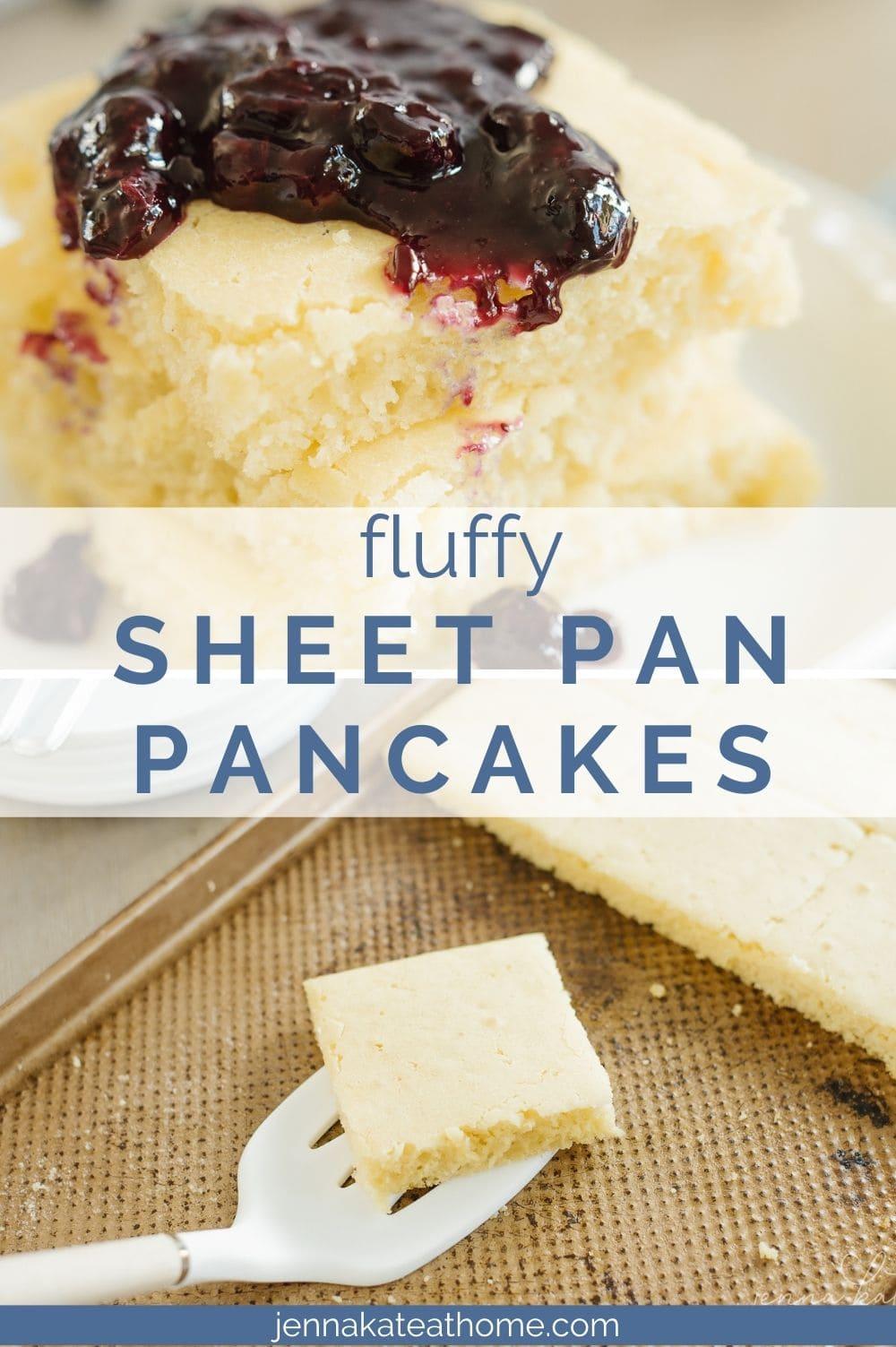 fluffy sheet pan pancakes