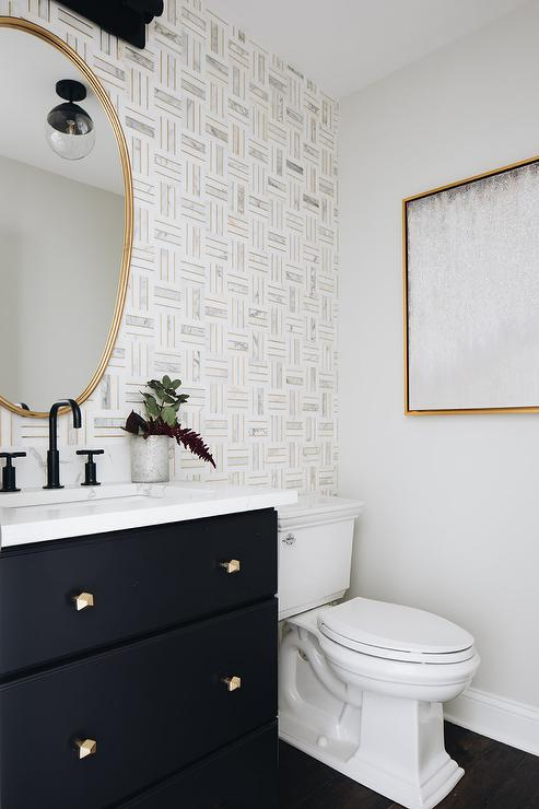 Bathroom wall with floor to ceiling tile