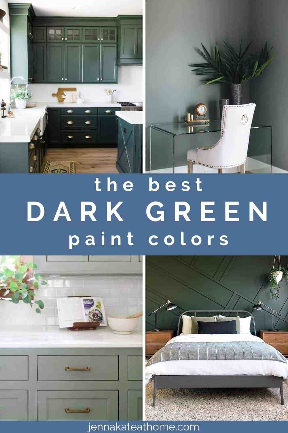 the best dark green paint colors