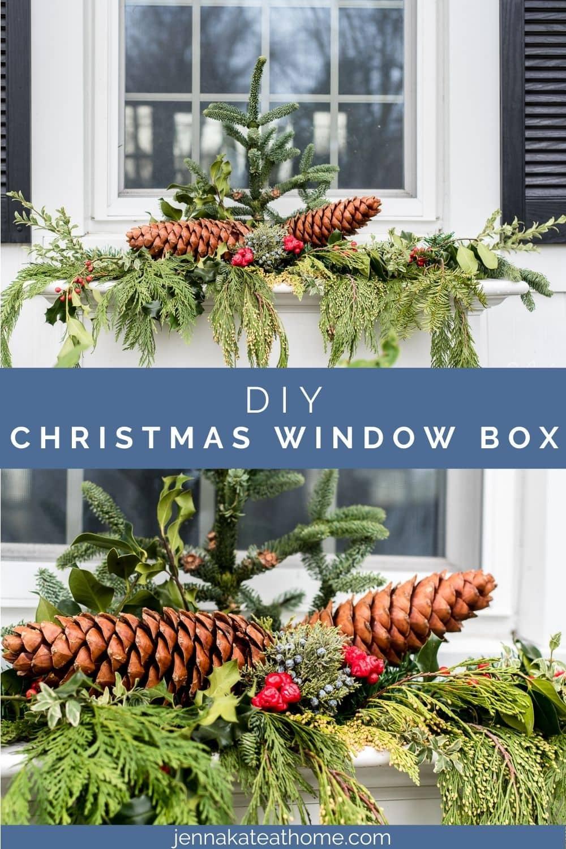 christmas window box arrangement pin