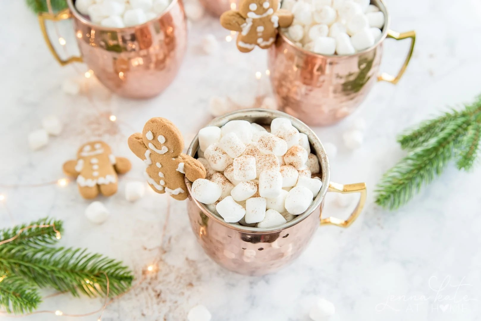 Mug full of marshmallows dusted with cinnamon spice
