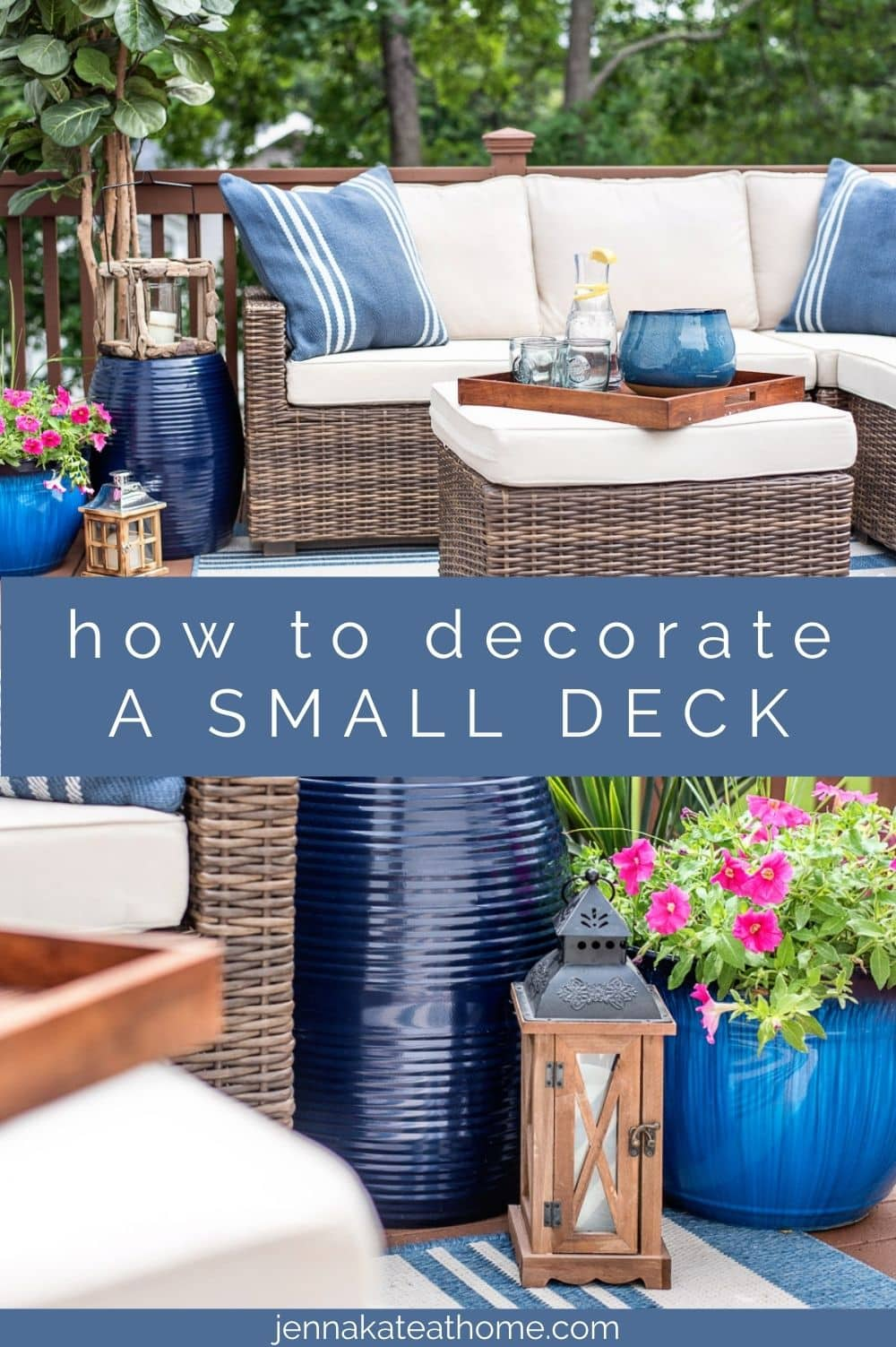 how to decorate a small deck