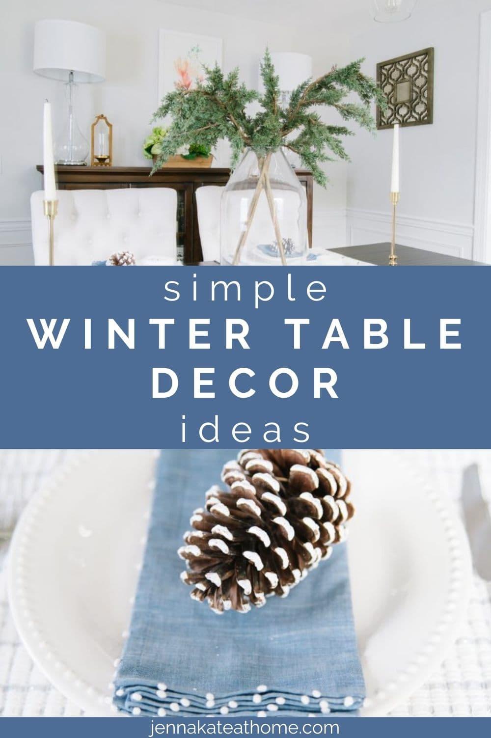 simple winter table decor ideas
