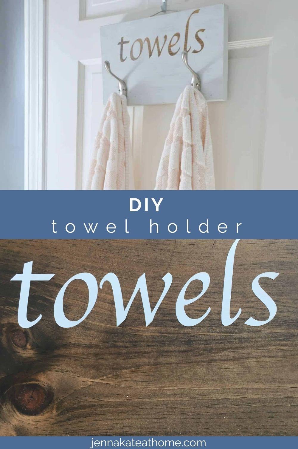 diy towel holder pin