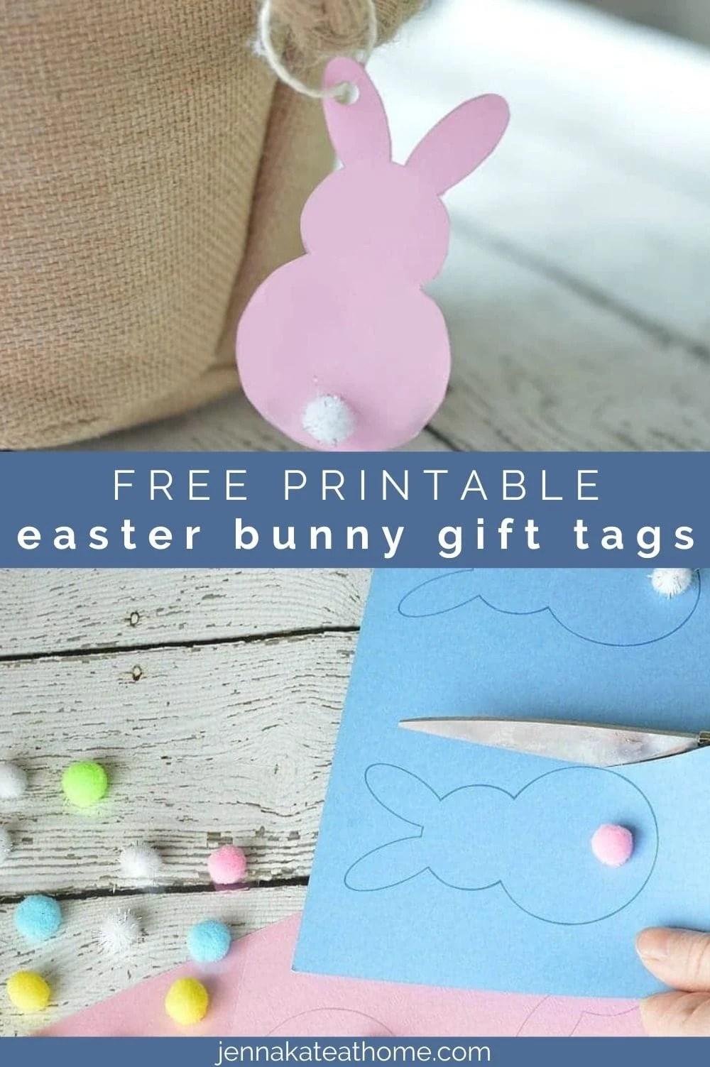 free printable easter bunny gift tags pin