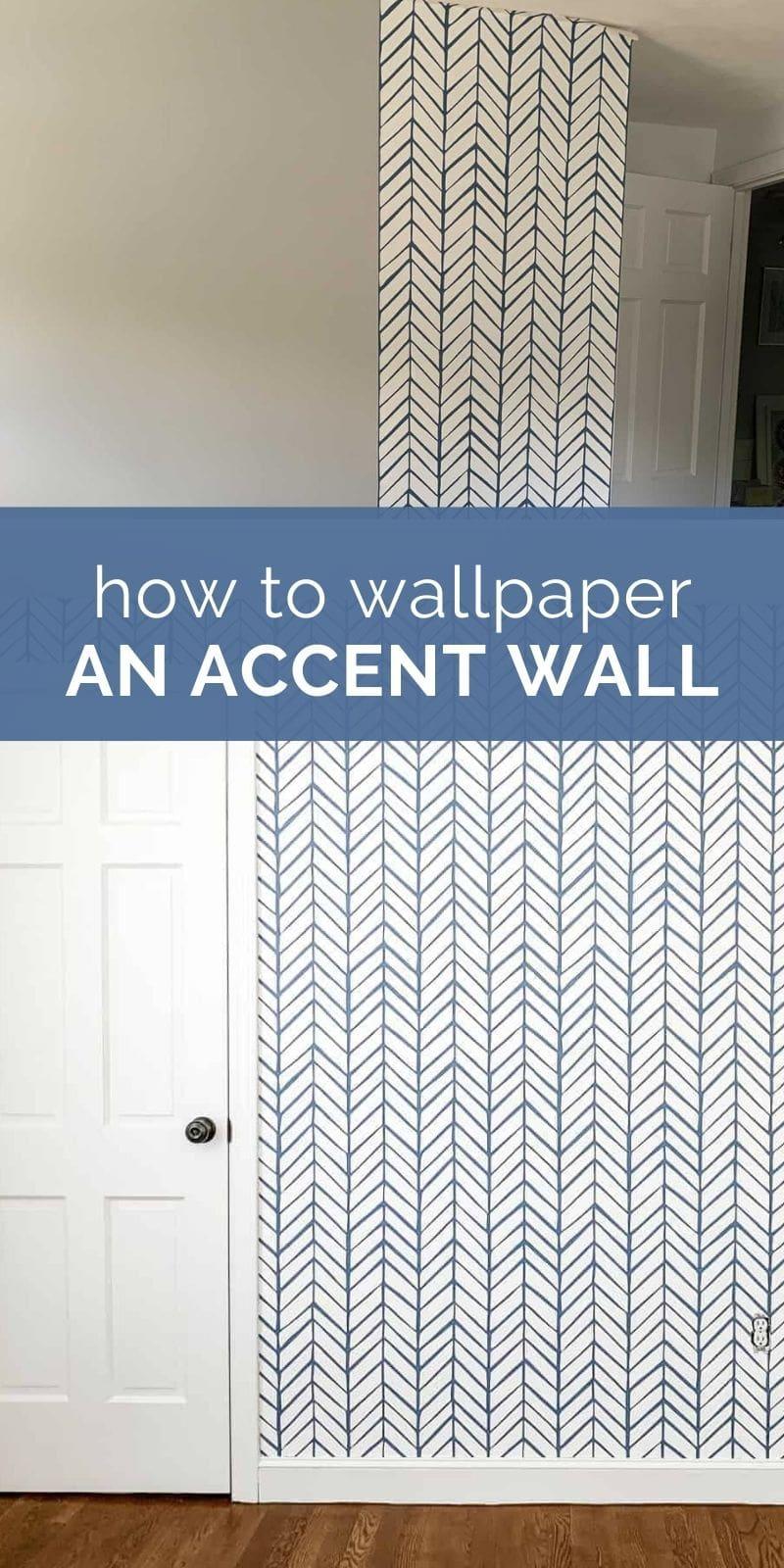 diy wallpaper accent wall pin