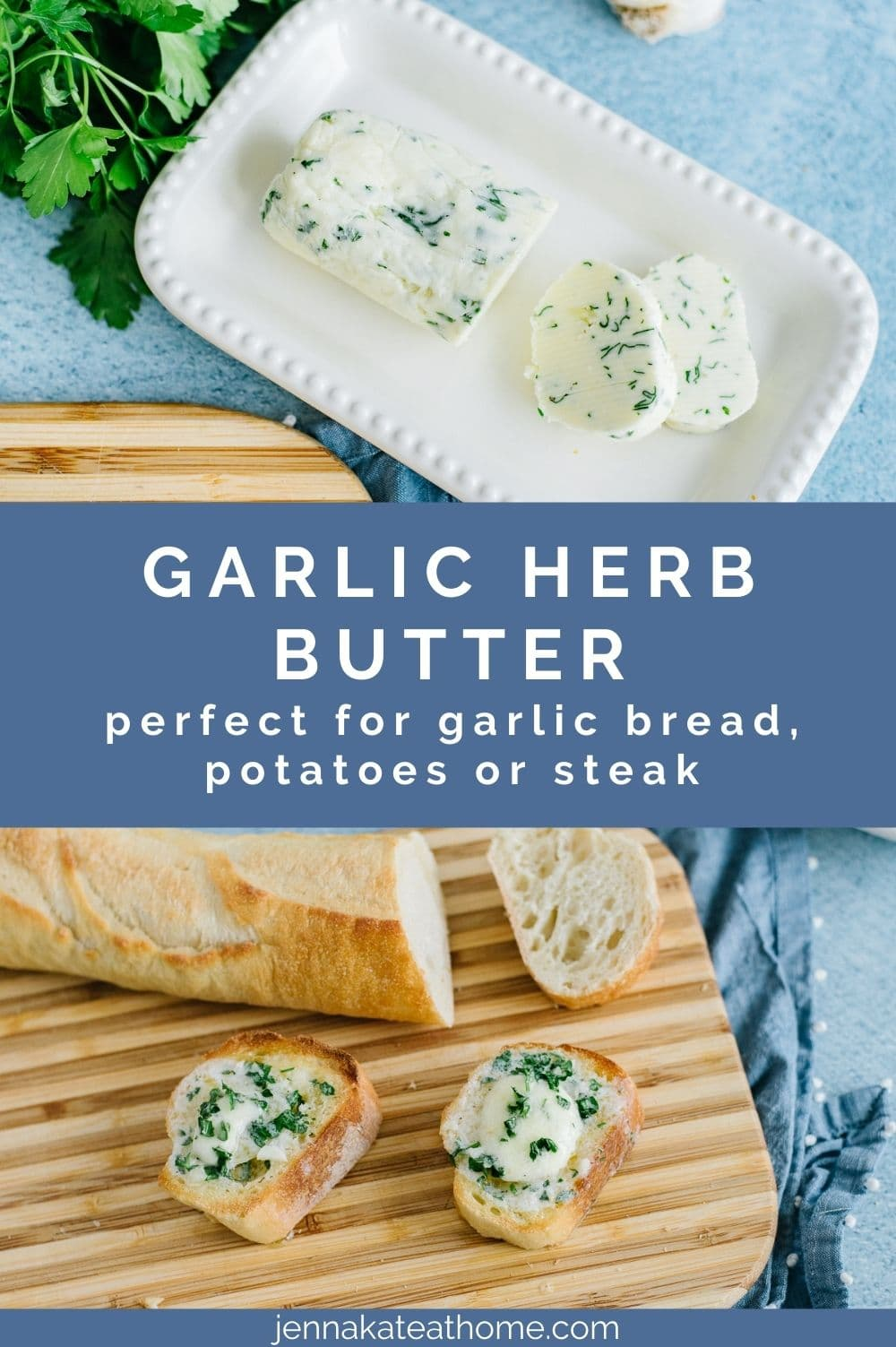 garlic herb butter pin