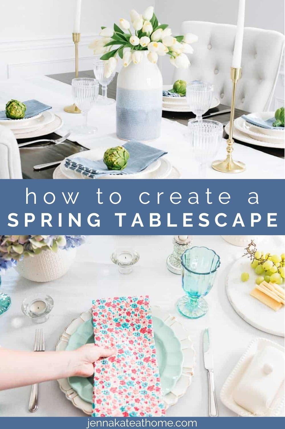 spring tablescape ideas pin