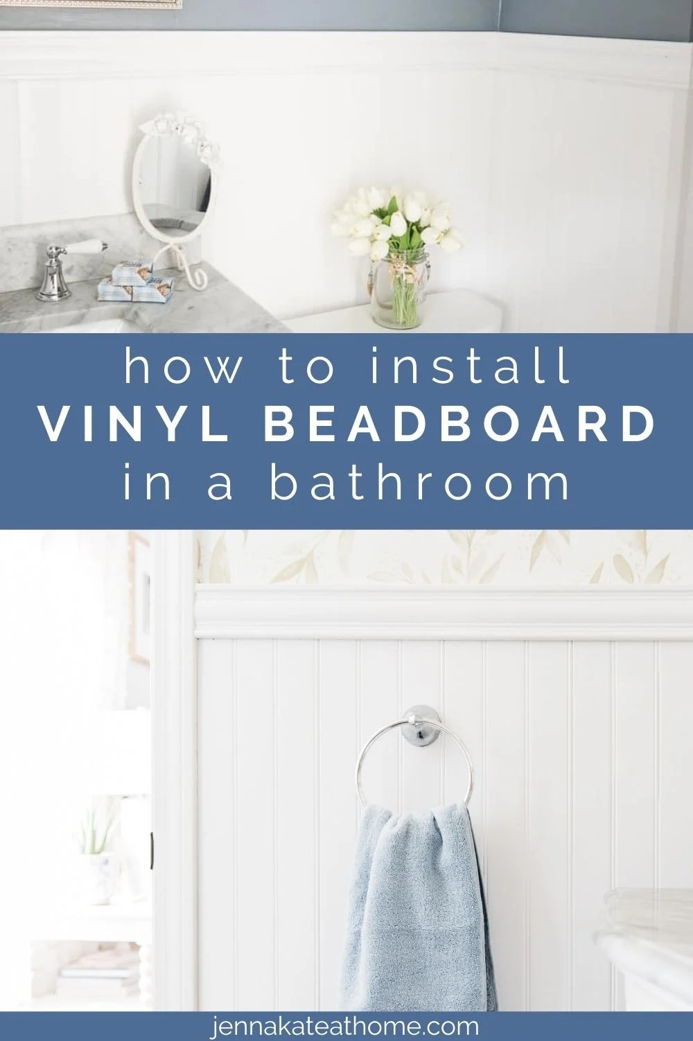 how to install beadboard in a bathroom pin image