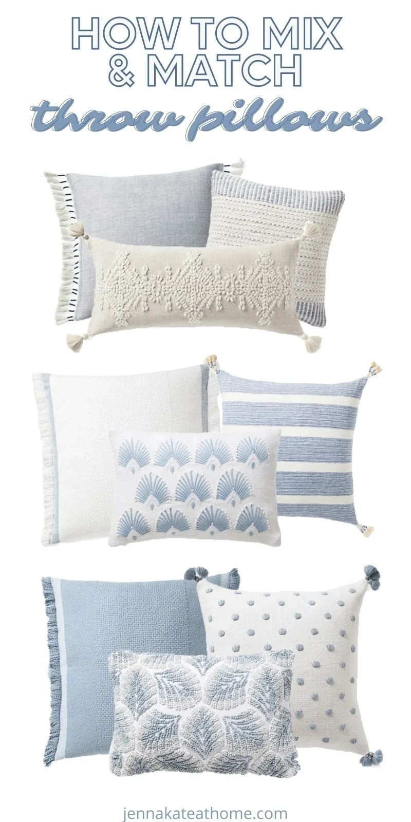 how to mix and match pillow patterns
