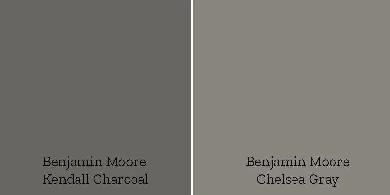 color swatch kendall charcoal versus chelsea gray