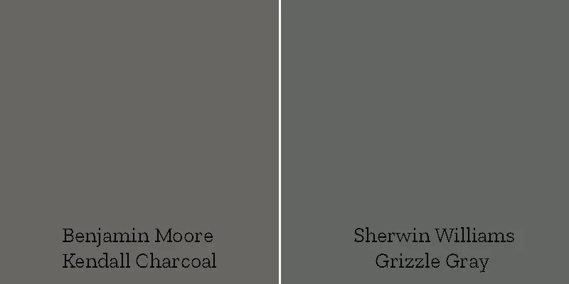 color swatch kendall charcoal versus grizzle gray