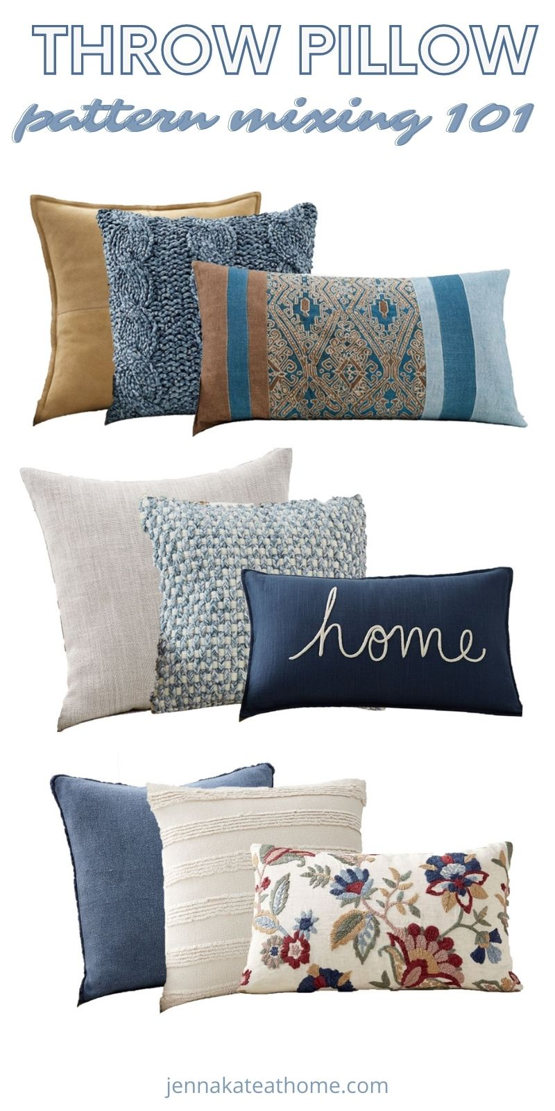 how to mix and match throw pillows pin