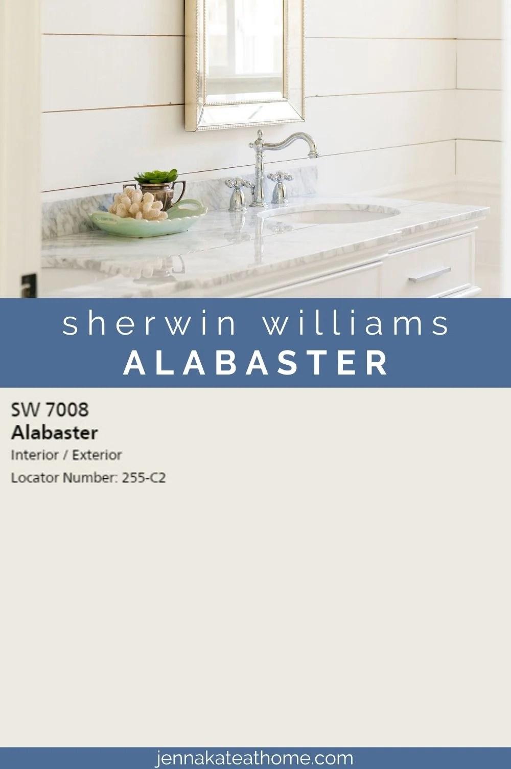 sherwin williams alabaster white pin