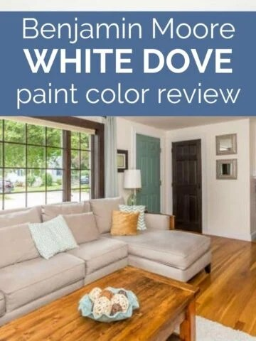 benjamin moore white dove paint color