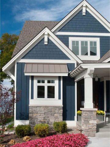 exterior paint colors navy blue