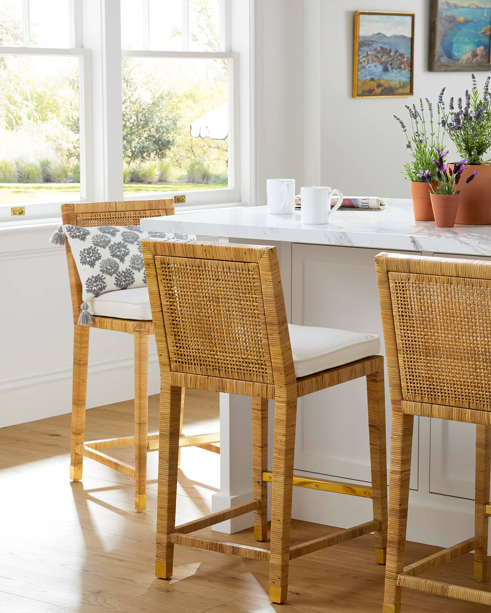 Balboa counter stools at kitchen island