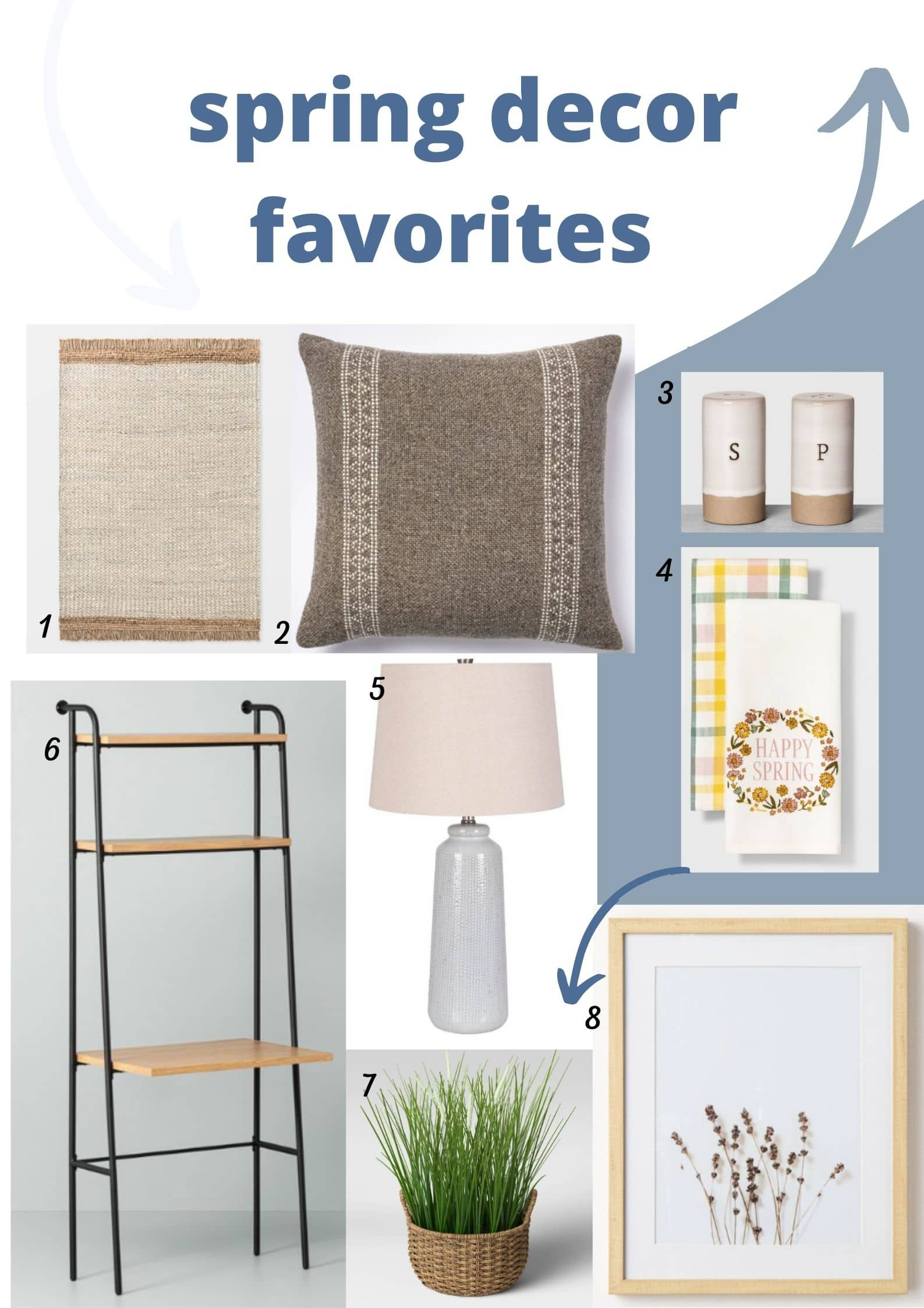 collage of home decor favorites from Target